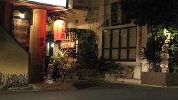 Okinawa Islands Street at Night 08 Stock Video Footage