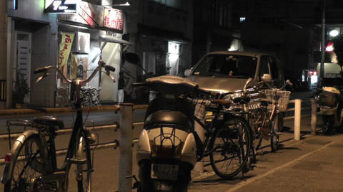 Okinawa Islands Street at Night 10 Stock Video Footage