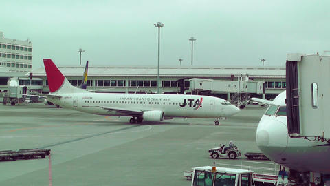 Okinawa Naha Airport 16 jta Stock Video Footage