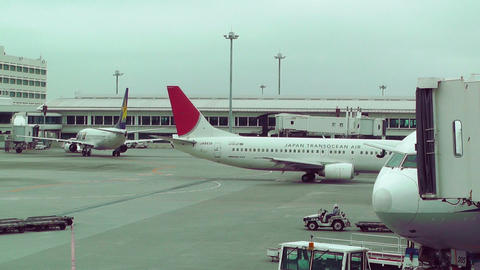Okinawa Naha Airport 16 jta Stock Video Footage