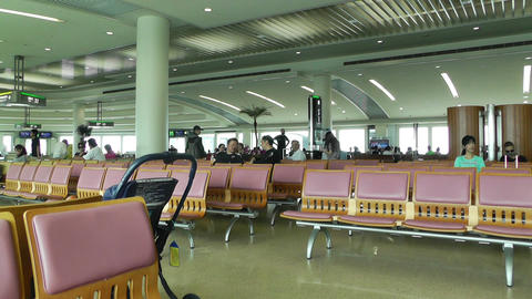 Okinawa Naha Airport Terminal 06 Stock Video Footage