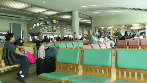 Okinawa Naha Airport Terminal 08 Stock Video Footage