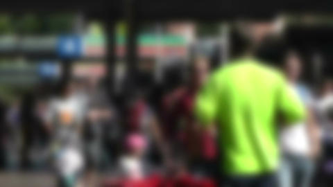 Pedestrians Blurred 60fps native slowmotion 01 Stock Video Footage