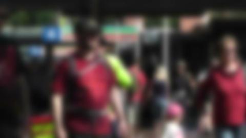 Pedestrians Blurred 60fps native slowmotion 01 Footage