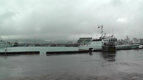Port in Ishigaki Okinawa 01 japan coast guard Stock Video Footage