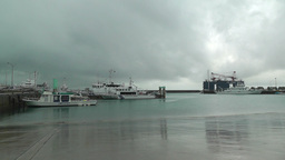 Port in Ishigaki Okinawa 03 japan coast guard Stock Video Footage