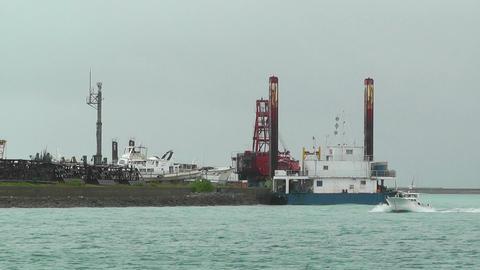Port in Ishigaki Okinawa 09 vessel 60fps native slowmotion Stock Video Footage