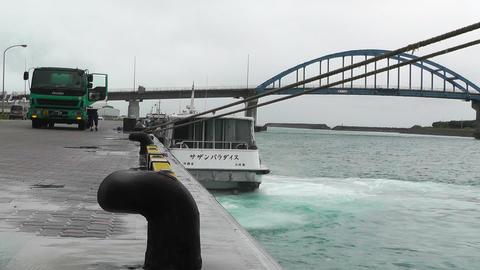 Port in Ishigaki Okinawa 11 60fps native slowmotion Stock Video Footage