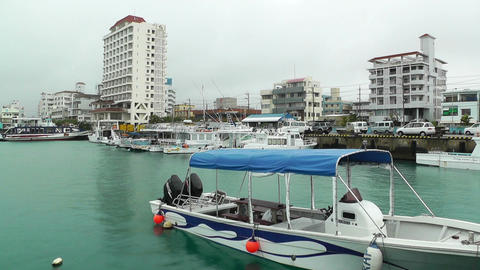 Port in Ishigaki Okinawa 17 Stock Video Footage