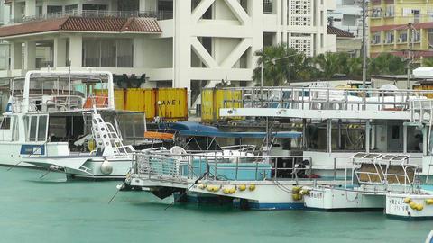 Port in Ishigaki Okinawa 19 rain Stock Video Footage