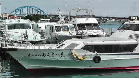 Port in Ishigaki Okinawa 21 Stock Video Footage