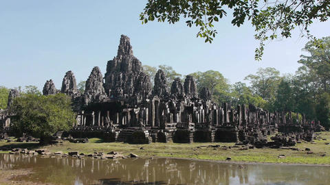 Angkor Wat area with art and temples in Cambodia , Southeast Asia 14 Footage