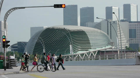 Singapore Asia Timelapse Of City Buildings Traffic Street 01 stock footage