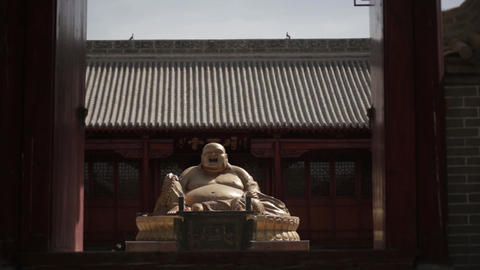 Buddha statue in the temple Footage