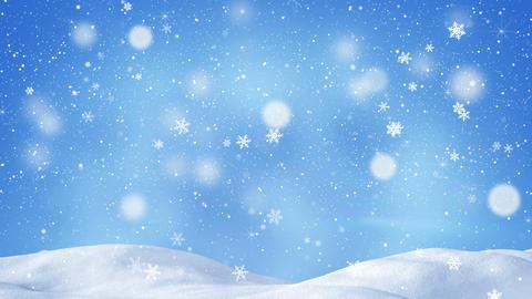 beautiful snowdrift and magic snowfall seamless loop 4k (4096x2304) Animation