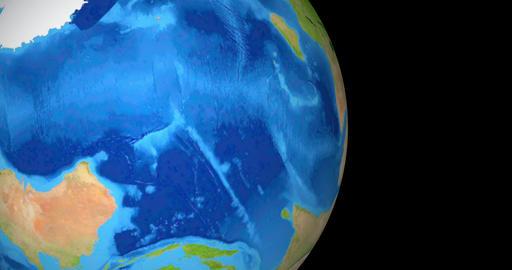 Earth Part Rotating On Black 4K CG動画素材