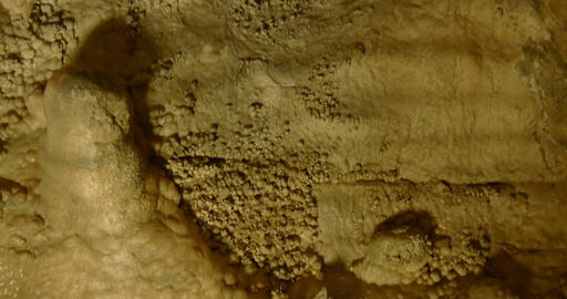 Cave Carbonate Rock Close Up 01 stock footage