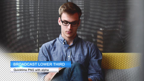 Lower Third stock footage