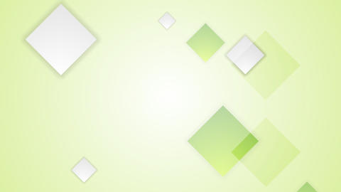 Light green bright abstract squares tech video animation. Seamless loop design Animation