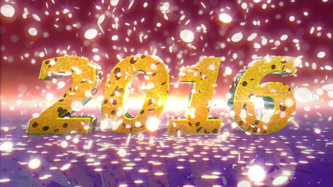 New Year 2016 Animation Stock Video Footage