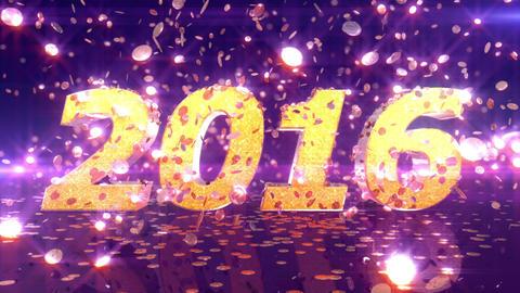 New Year 2016 Animation Animation