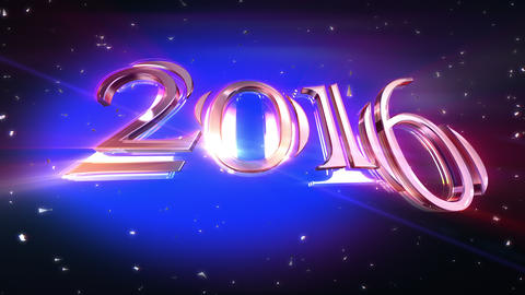 New Year - 2016 Animation stock footage