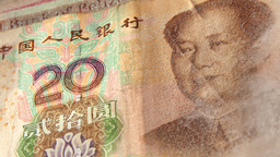 Chinese Yuan Pan Right to Show Mao Footage