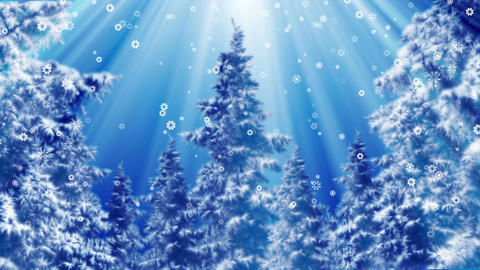 Winter scenery background loop Animation
