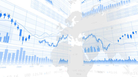 Business Graph K Dmww 4 K stock footage
