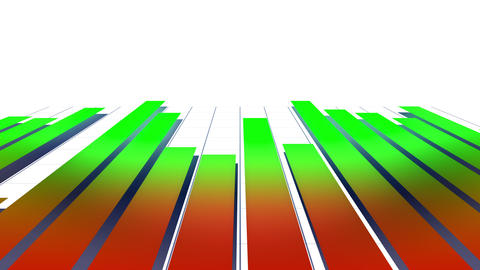 Fast moving growing colorful bars Animation