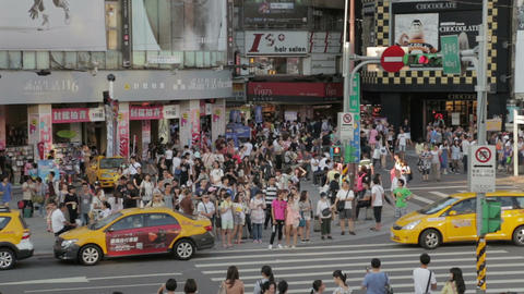 Crowds at Ximending WS Footage