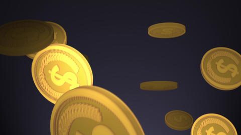 Coins Falling and alpha Animation