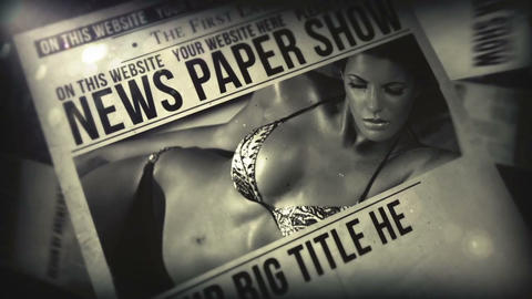 News Paper Show After Effects Template