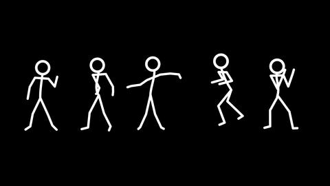 Dancing Stickmen Stock Video Footage