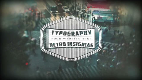Retro Insignias 12 In 1 After Effects Template