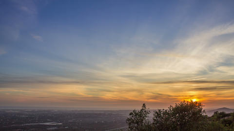 4K Sunset time lapse country landscape in Algarve tourism destination region Footage