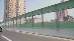 Car POV Of Driving Through Shanghai stock footage