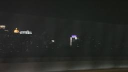 Car POV Of Driving Through Shanghai At Night stock footage