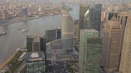Shanghai Cityscape stock footage