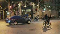 Shanghai Evening Street Scene stock footage