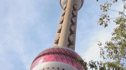 Shanghai Oriental Pearl TV Tower stock footage