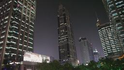 Shanghai Skyscrapers at Night Footage