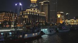 Shanghai Quay at Night Footage