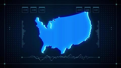US Hologram Map Animation
