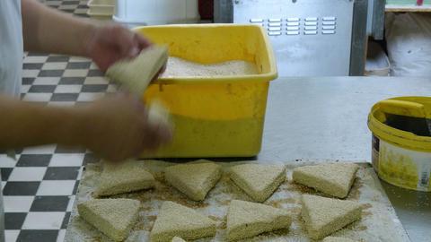 german baker prepare special sesame roll buns 4k 11697 Live Action