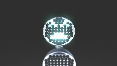 LED, Light Up Face Animation Animation