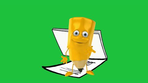 Dancing Pencil Character: Looping + Matte Animation