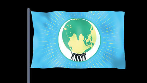 World Peace Flag 2 Animation