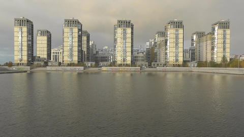 Buildings And Water stock footage