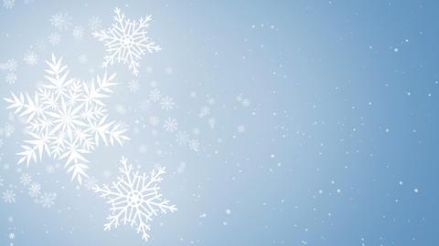 Beautiful Snowflakes, holidaybackground Animation